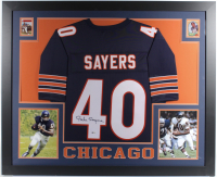 Gale Sayers Signed 35x43 Custom Framed Jersey (Beckett COA) (See Description) at PristineAuction.com