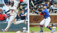 Lot of (2) Baseball Signed 8x10 Photos with Michael Conforto & Dansby Swanson (JSA COA) at PristineAuction.com