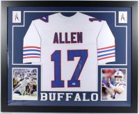 Josh Allen Signed 35x43 Custom Framed Jersey (Beckett COA) (See Description) at PristineAuction.com