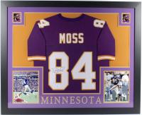 Randy Moss Signed 35x43 Custom Framed Jersey (Beckett COA) (See Description) at PristineAuction.com