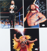 """Lot of (3) Signed WWE 8x10 Photos with Ricky """"The Dragon"""" Steamboat, Ted DiBiase, & """"Hacksaw"""" Jim Duggan with Multiple Inscriptions (JSA COA) at PristineAuction.com"""
