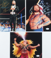 "Lot of (3) Signed WWE 8x10 Photos with Ricky ""The Dragon"" Steamboat, Ted DiBiase, & ""Hacksaw"" Jim Duggan with Multiple Inscriptions (JSA COA) at PristineAuction.com"