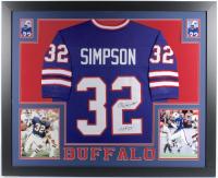 "O. J. Simpson Signed 35x43 Custom Framed Jersey Inscribed ""H.O.F. 85"" (JSA COA) at PristineAuction.com"