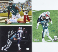 Lot of (3) Signed Eagles 8x10 Photos with Brandon Graham, Rodney McLeod, & Fletcher Cox (JSA COA) at PristineAuction.com