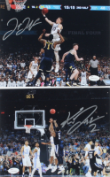 Lot of (2) Signed Villanova Wildcats 8x10 Photos with Donte DiVincenzo & Kris Jenkins (JSA COA) at PristineAuction.com