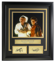 """Michael J. Fox & Christopher Lloyd """"Back To The Future"""" 16x19 Custom Framed Photo Display at PristineAuction.com"""