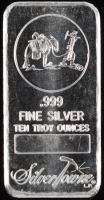 10 Troy Ounce Silvertowne .999 Fine Silver Bullion Bar at PristineAuction.com
