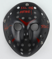 """Ari Lehman Signed """"Friday the 13th"""" Mask Inscribed """"Jason 1"""" & """"KILL FOR MOTHER!"""" (JSA COA) at PristineAuction.com"""