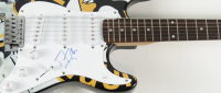 Marc-Andre Fleury Signed Penguins Full-Size Electric Guitar (JSA COA) at PristineAuction.com