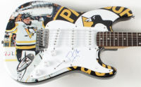Marc-Andre Fleury Signed Penguins Full-Size Electric Guitar (JSA COA) at PristineAuction.com