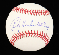 "Ricky Henderson Signed OML Baseball Inscribed ""HOF 09"" (Autograph Refernce Hologram) at PristineAuction.com"