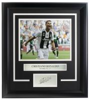 Cristiano Ronaldo Juventus F.C. 14x18 Custom Framed Photo Display at PristineAuction.com