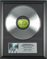 """The Beatles Custom Framed 16x20 Platinum Plated """"Abbey Road"""" Record Album Award Display at PristineAuction.com"""