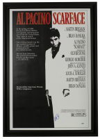"Al Pacino Signed ""Scarface"" 16x19 Custom Framed Movie Poster Display (Beckett Hologram) at PristineAuction.com"