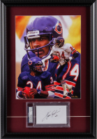Walter Payton Signed Bears 16x23 Custom Framed Index Card Display (PSA Encapsulated) at PristineAuction.com
