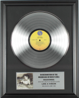 """Madonna 16x20 Custom Framed Silver Plated """"Like A Virgin"""" Record Album Award Display at PristineAuction.com"""