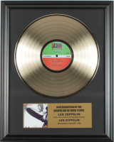 "Led Zeppelin 16x20 Custom Framed Gold Plated ""Led Zeppelin"" Record Album Award Display at PristineAuction.com"