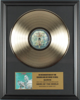 """Queen 16x20 Custom Framed Gold Plated """"News Of The World"""" Record Album Award Display at PristineAuction.com"""