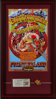"Disneyland ""Frontierland"" 15x26 Custom Framed Print Display with Vintage Disneyland Ticket Book & Ride Lapel Pin at PristineAuction.com"