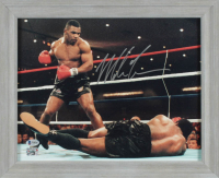 Mike Tyson Signed 13.5x16.5 Custom Framed Print Display (Beckett COA & Fiterman Sports Hologram) at PristineAuction.com