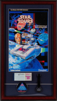 "Disneyland Tomorrowland ""Star Tours"" 15x26 Custom Framed Print Display with a Souvenir Watch & Vintage Ticket Book at PristineAuction.com"