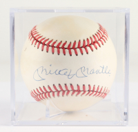 Mickey Mantle Signed OAL Baseball in Display Case (PSA LOA) (See Description) at PristineAuction.com