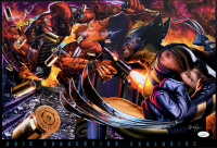 "Greg Horn Signed LE ""Deadpool vs Wolverine"" 13x19 Lithograph (JSA COA) at PristineAuction.com"