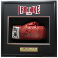 Mike Tyson Signed 4x18x19 Custom Framed Boxing Glove Shadowbox Display (JSA COA) at PristineAuction.com