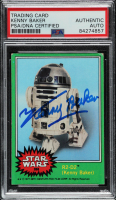 Kenny Baker Signed 1977 Star Wars #253 R2-D2 (PSA Encapsulated) at PristineAuction.com