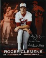 "Roger Clemens Signed University of Texas 16x20 Photo Inscribed ""Hook Em"" & ""National Champs 1983"" (TriStar Hologram) at PristineAuction.com"