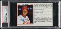 Stan Musial Signed Custom Trading Card (PSA Encapsulated) at PristineAuction.com