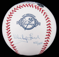 Whitey Ford LE Signed Yankees 100th Anniversary OML Baseball (Steiner COA & MLB Hologram) at PristineAuction.com