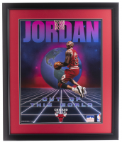 Michael Jordan Bulls 22x27 Custom Framed Photo Display at PristineAuction.com