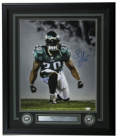 Brian Dawkins Signed Eagles 22x27 Custom Framed Photo Display (JSA COA) at PristineAuction.com