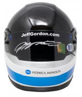 Jeff Gordon Signed NASCAR Konica Minolta Mini Helmet (Beckett COA & Gordon Hologram) at PristineAuction.com