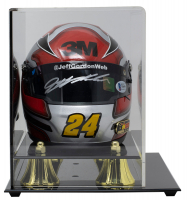 Jeff Gordon Signed LE NASCAR 3M Mini Helmet with Display Case (Beckett COA & Gordon Hologram) at PristineAuction.com