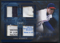 Greg Maddux 2020 Leaf In The Game Used Sports A Year to Remember Quad Patch Relic #AYR-15 - #28/35 at PristineAuction.com