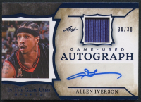 Allen Iverson 2020 Leaf In The Game Used Sports Game-Used Autograph #GUA-AI1 - #30/30 at PristineAuction.com
