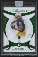 Chase Claypool 2020 Panini Flawless Collegiate Emerald #16 - #1/5 at PristineAuction.com