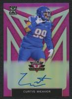 Curtis Weaver 2020 Leaf Valiant Pink #BACW1 Autograph RC #9/15 at PristineAuction.com