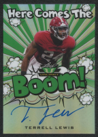 Terrell Lewis 2020 Leaf Valiant Here Comes The Boom Green #HCBTL1 Autograph RC #2/75 at PristineAuction.com