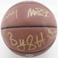 NBA Basketball Signed By (4) with Magic Johnson, James Worthy, Byron Scott & Mychal Thompson (JSA COA) (See Description) at PristineAuction.com