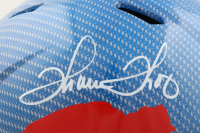 Thurman Thomas Signed Bills Full-Size Authentic On-Field Hydro-Dipped Speed Helmet (JSA COA) at PristineAuction.com