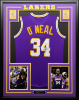 Shaquille O'Neal Signed 34.5x42.5 Custom Framed Jersey (JSA COA) at PristineAuction.com