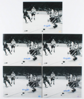 Lot of (5) Willie O'Ree Signed Bruins 8x10 Photos (Hollywood Collectibles Hologram) at PristineAuction.com