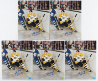 Lot of (5) Johnny Bucyk Signed Bruins 8x10 Photos (Hollywood Collectibles Hologram) at PristineAuction.com