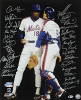 1986 Mets 16x20 Photo Team-Signed by (27) with Wally Backman, Howard Johnson, Tim Teufel, John Gibbons, Roger McDowell, Darryl Strawberry (Beckett LOA) at PristineAuction.com
