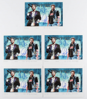 "Lot of (5) Joey Fatone & Chris Kirkpatrick Signed ""NSYNC"" 8x10 Photos (PSA COA) at PristineAuction.com"