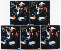 """Lot of (5) Artimus Pyle Signed 8x10 Photos Inscribed """"RRHOF 2006"""" (Hollywood Collectibles Hologram) at PristineAuction.com"""