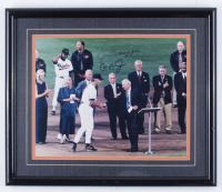 Joe DiMaggio & Cal Ripken Jr. Signed 16x19 Custom Framed Photo Display (Beckett LOA) (See Description) at PristineAuction.com